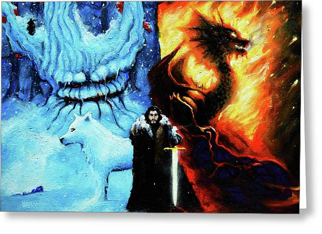 Son Of Ice And Fire Greeting Card by Chris Bahn
