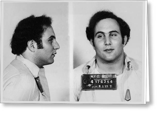 Son Of Sam David Berkowitz Mug Shot 1977 Horizontal  Greeting Card by Tony Rubino