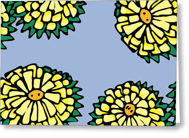 Sonchus In Color Greeting Card