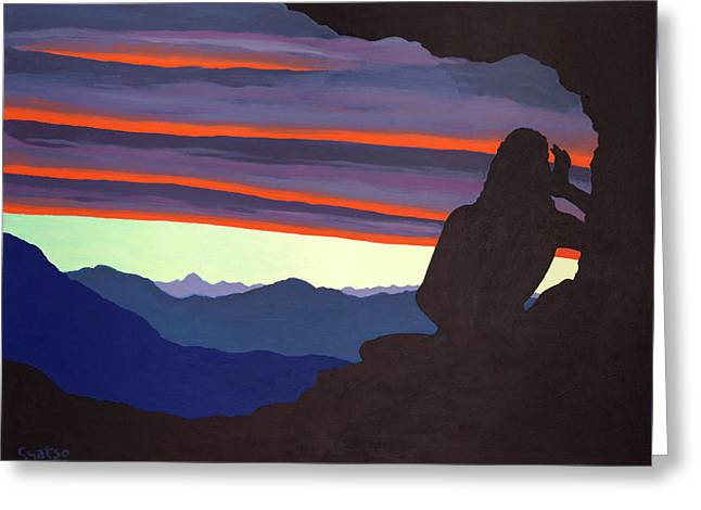 Song At Sunset - Milarepa Greeting Card