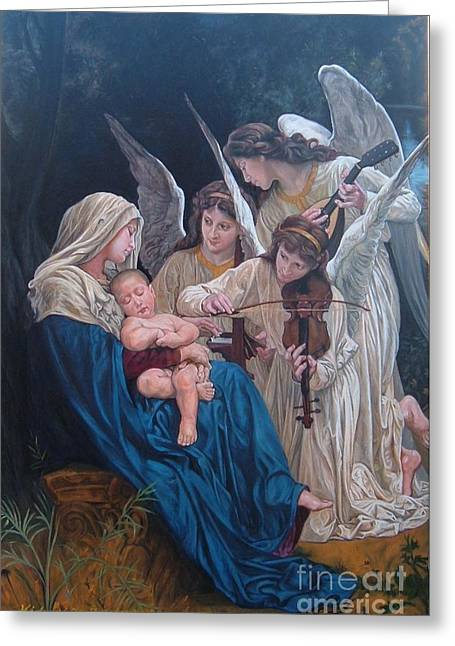 Song Of Angels After W. Bouguereau Greeting Card by Hidemi