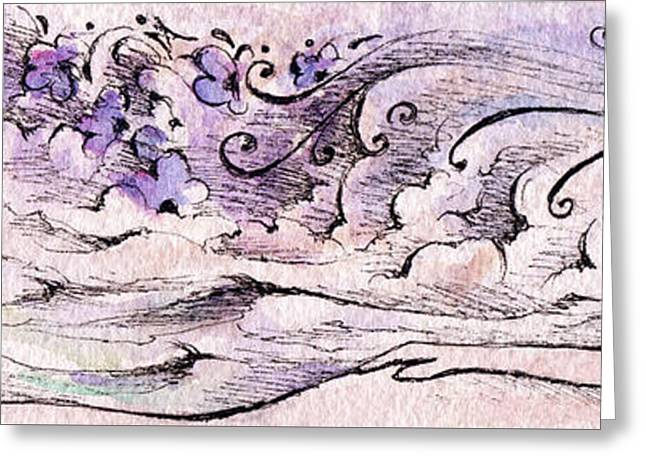 Song Of The Wind Greeting Card by Rachel Christine Nowicki