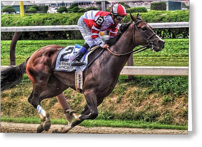 Songbird With Mike Smith Saratoga August 2017 Greeting Card