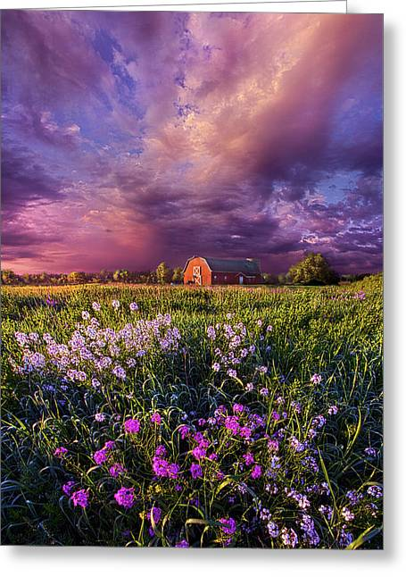 Songs Of Days Gone By Greeting Card by Phil Koch