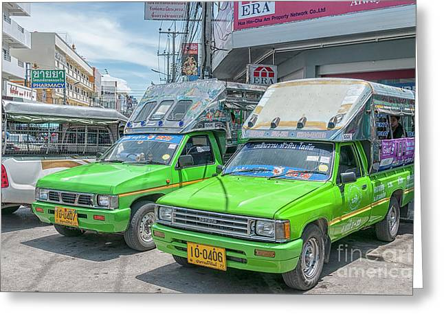 Greeting Card featuring the photograph Songthaew Taxi by Antony McAulay