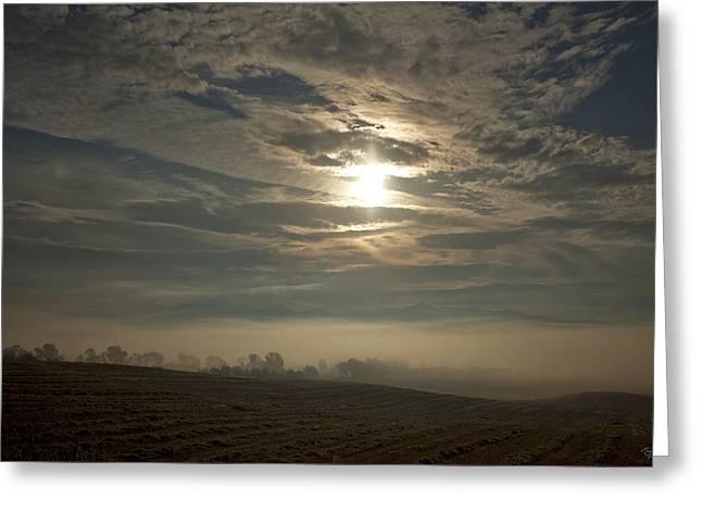 Sonnenaufgang  Bei Rudno Greeting Card