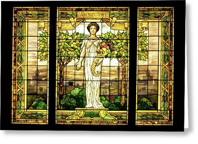 Sonnenberg Gardens Stained Glass Window Greeting Card