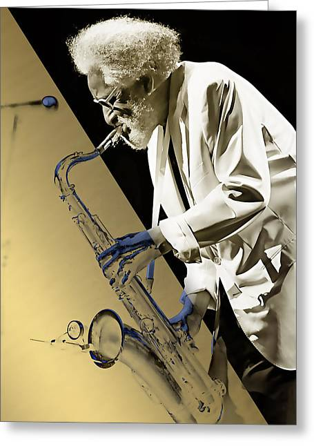 Sonny Rollins Collection Greeting Card by Marvin Blaine