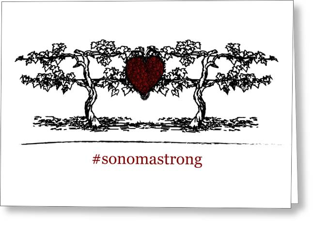 Sonoma Strong Greeting Card