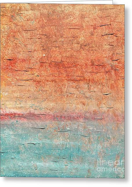 Sonoran Desert #1 Southwest Vertical Landscape Original Fine Art Acrylic On Canvas Greeting Card