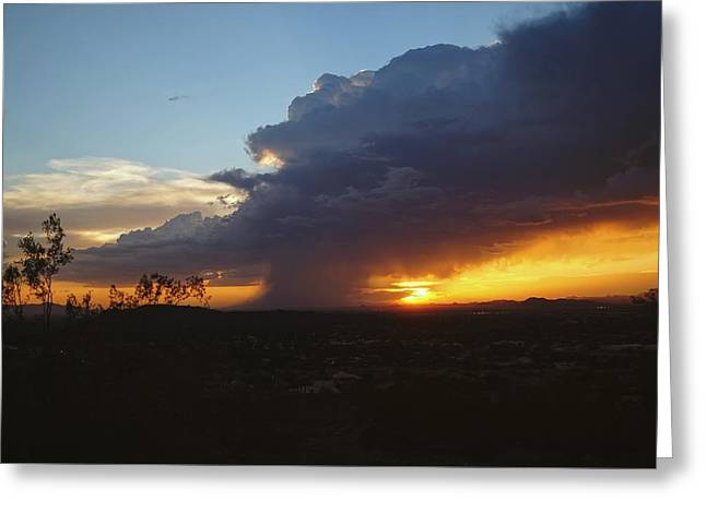 Greeting Card featuring the photograph Sonoran Desert Thunderstorm by Broderick Delaney