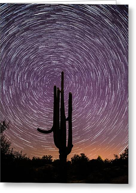 Sonoran Star Trails Greeting Card