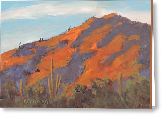 Sonoran Sunset Greeting Card by Bill Tomsa