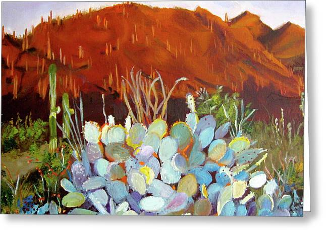 Sonoran Sunset Greeting Card by Julie Todd-Cundiff