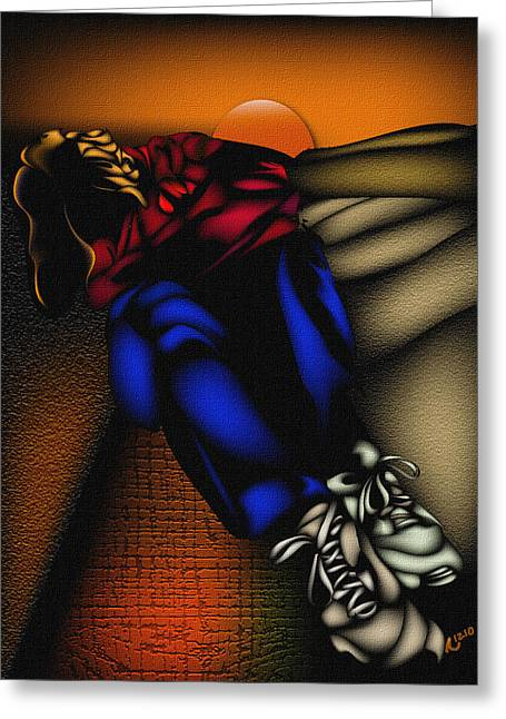 Anthony crudup greeting cards greeting card featuring the mixed media sonrise over darkness by anthony crudup m4hsunfo Images
