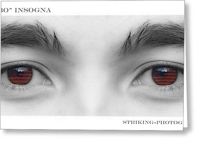 Son's Eyes Greeting Card by James BO  Insogna