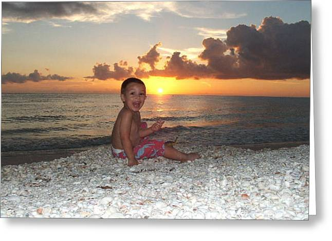 Sonsun Greeting Card by Michelle S White