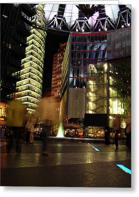 Sony Center Greeting Card by Flavia Westerwelle