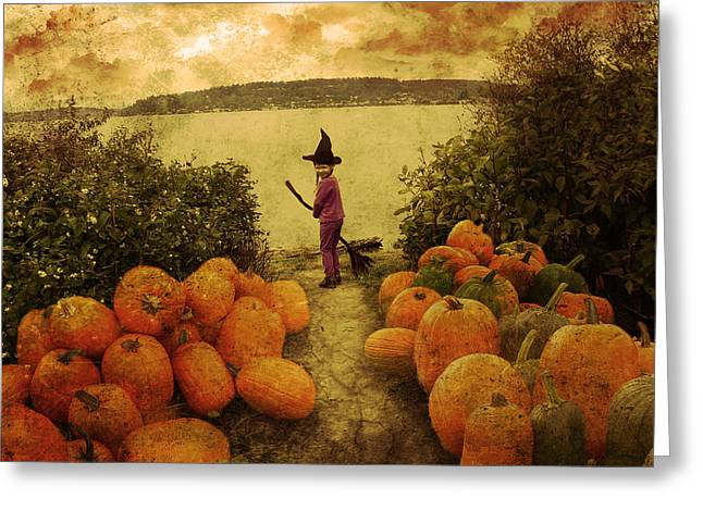 Soon Halloween Greeting Card by Anastasia Michaels
