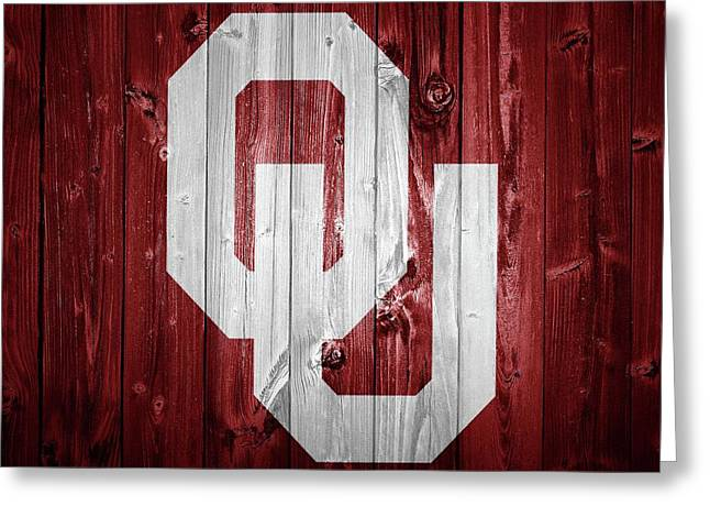Sooners Barn Door Greeting Card