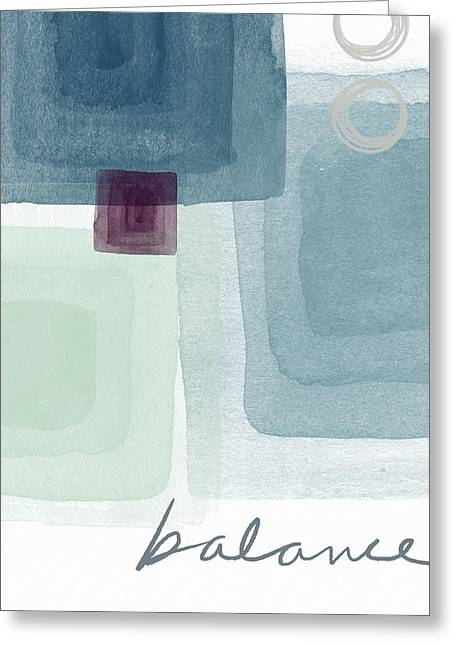 Soothing Balance- Art By Linda Woods Greeting Card