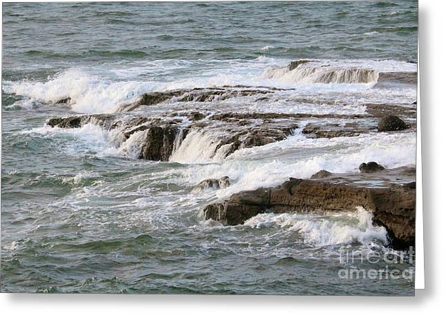 Soothing Waves In San Diego Greeting Card