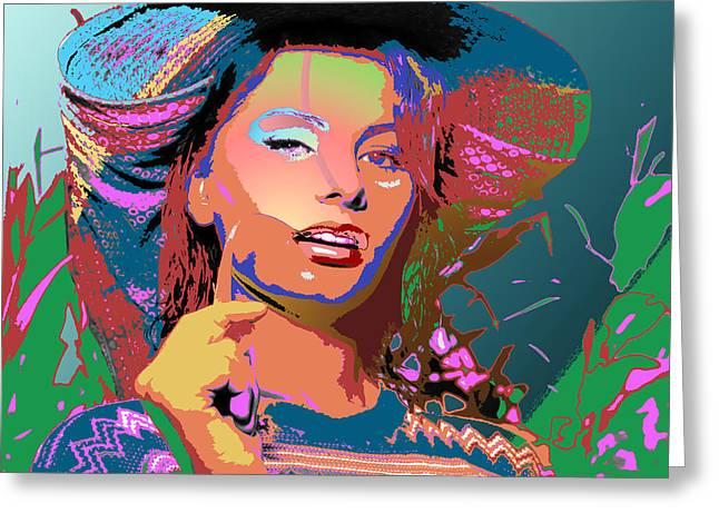 Greeting Card featuring the digital art Sophia 4 by John Keaton
