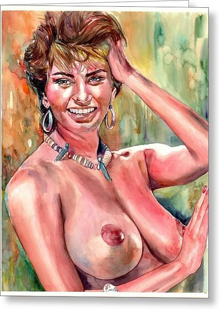 Sophia Loren Nude Greeting Card