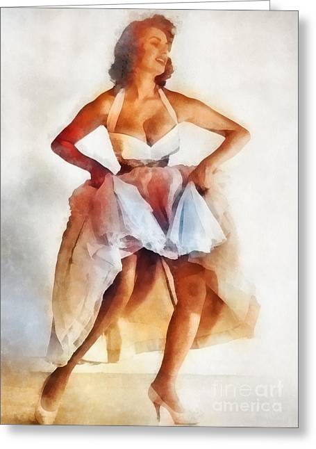 Sophia Loren, Vintage Hollywood Actress Greeting Card by Frank Falcon