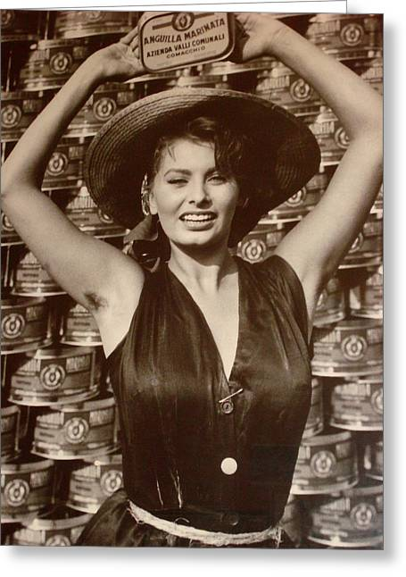 Sophia Loren On A Poster Greeting Card
