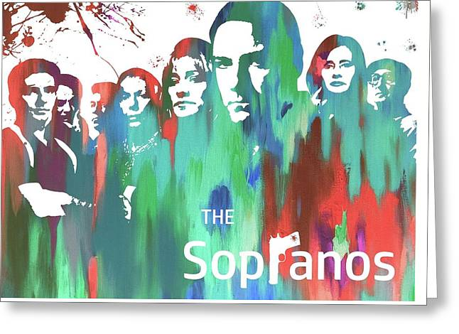 Sopranos Paint Poster Greeting Card by Dan Sproul