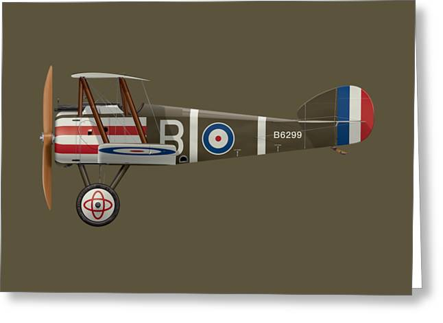 Sopwith Camel - B6299 - Side Profile View Greeting Card