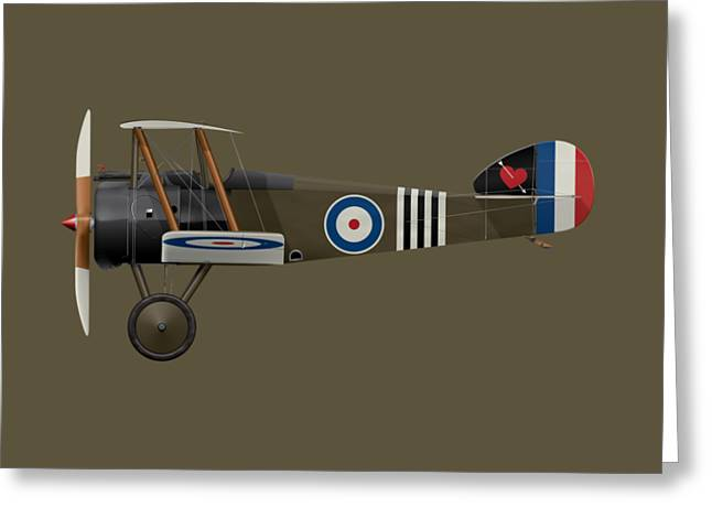 Sopwith Camel - B6313 June 1918 - Side Profile View Greeting Card