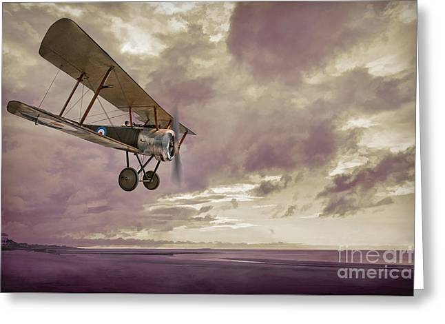 Sopwith Pup Biplane Greeting Card by Amanda Elwell