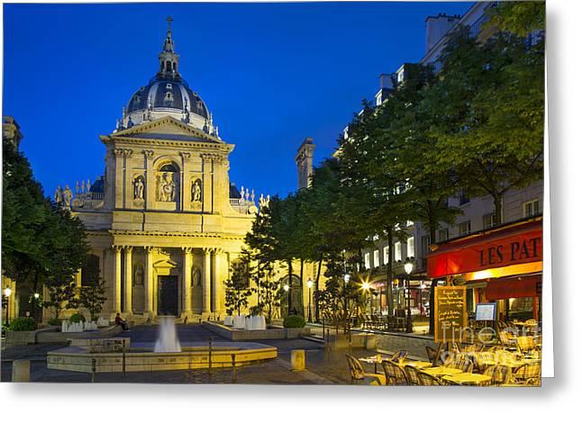 Sorbonne Twilight - Paris Greeting Card by Brian Jannsen