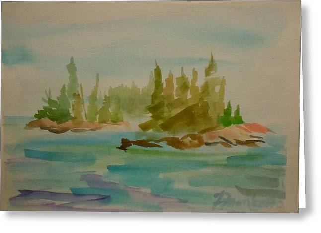 Greeting Card featuring the painting Sorrento Islands by Francine Frank