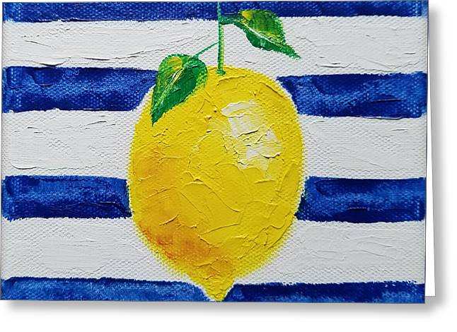 Greeting Card featuring the painting Sorrento Lemon by Judith Rhue