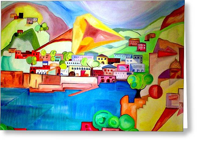 Greeting Card featuring the painting Sorrento by Patricia Arroyo