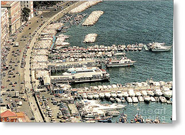 Greeting Card featuring the photograph Sorrento's Harbor, Italy by Merton Allen