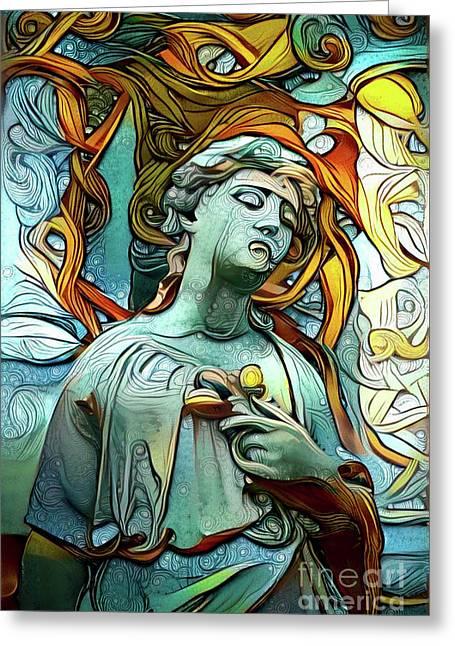 Sorrowful Angel 1 Greeting Card