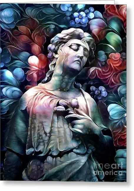 Sorrowful Angel 7 Greeting Card
