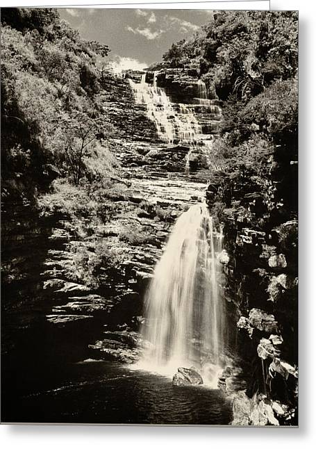 Greeting Card featuring the photograph Sossego Waterfall by Amarildo Correa