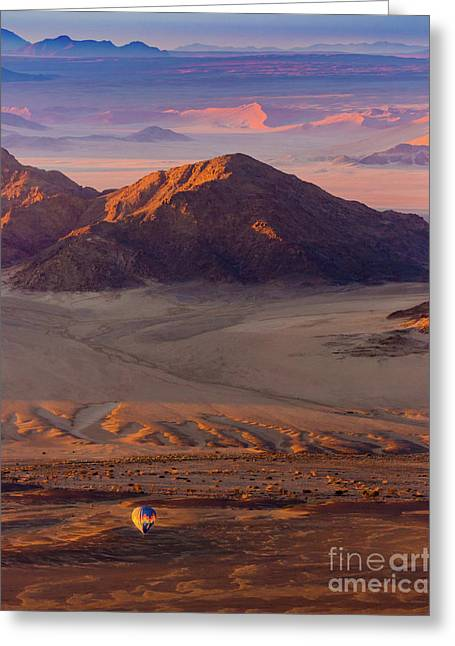 Sossusvlei Balloon Greeting Card by Inge Johnsson