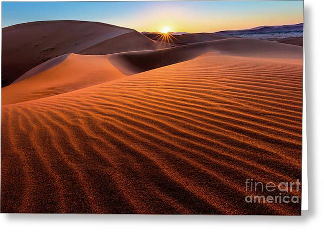 Sossusvlei Sunrise Greeting Card by Inge Johnsson