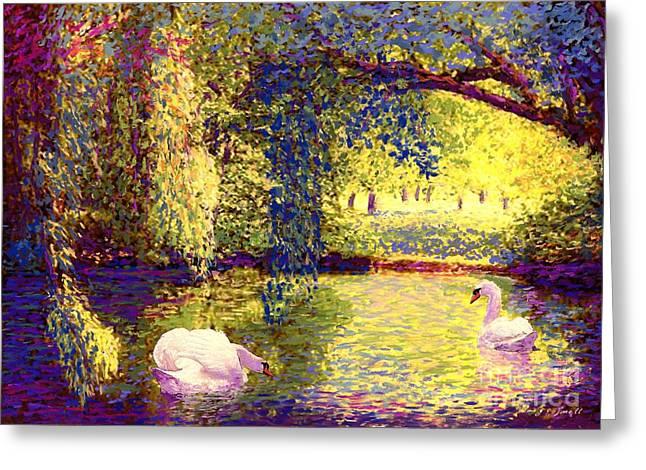 Swans, Soul Mates Greeting Card
