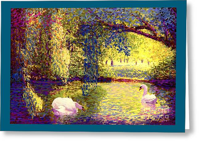 Swans, Soul Mates Greeting Card