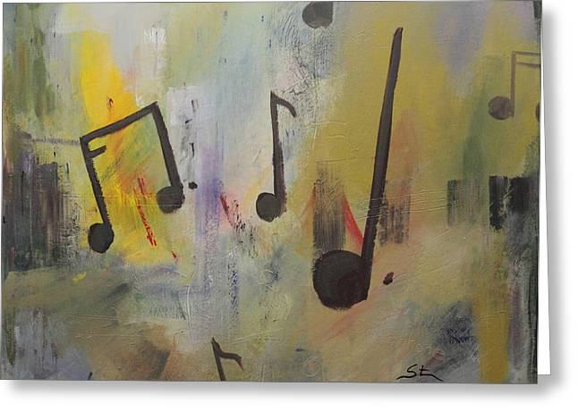 Soul Music Greeting Card by Mike Stocker