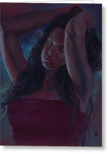 Greeting Card featuring the painting Soul Nocturne by Ragen Mendenhall