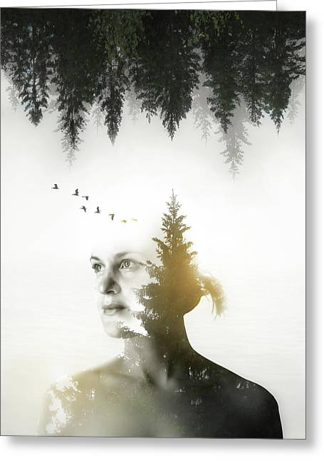 Soul Of Nature Greeting Card by Nicklas Gustafsson