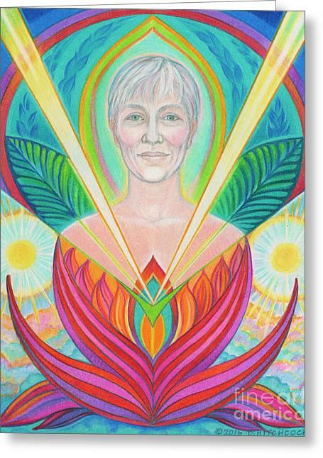 Soul Portrait  Beth Greeting Card